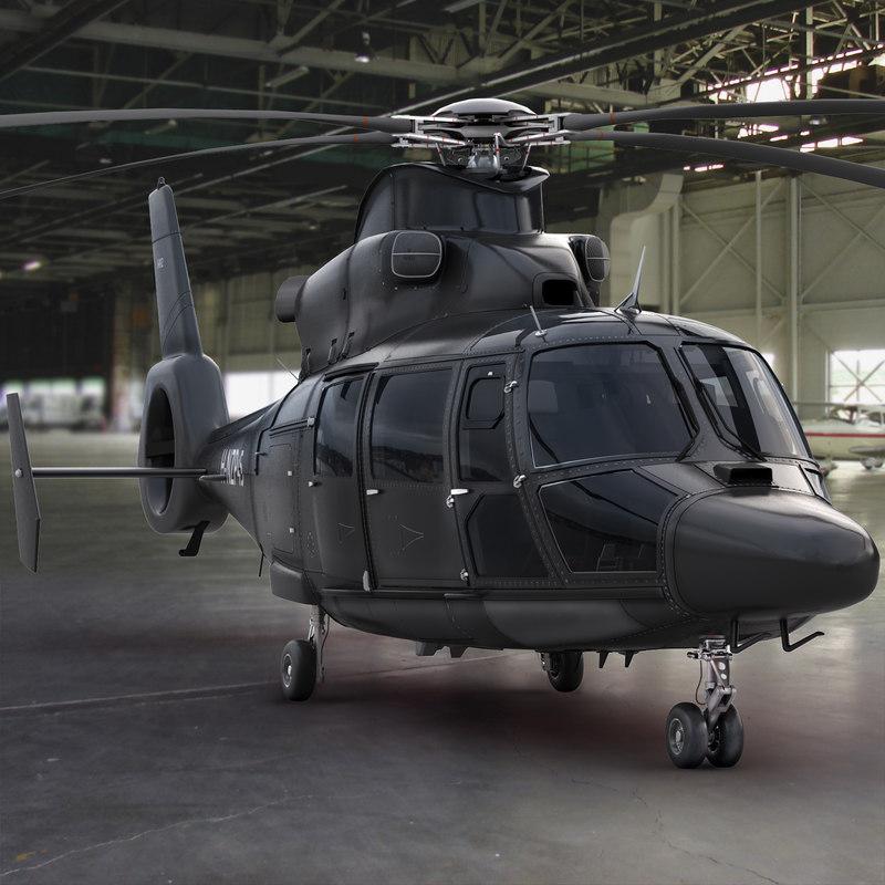3d model eurocopter private black
