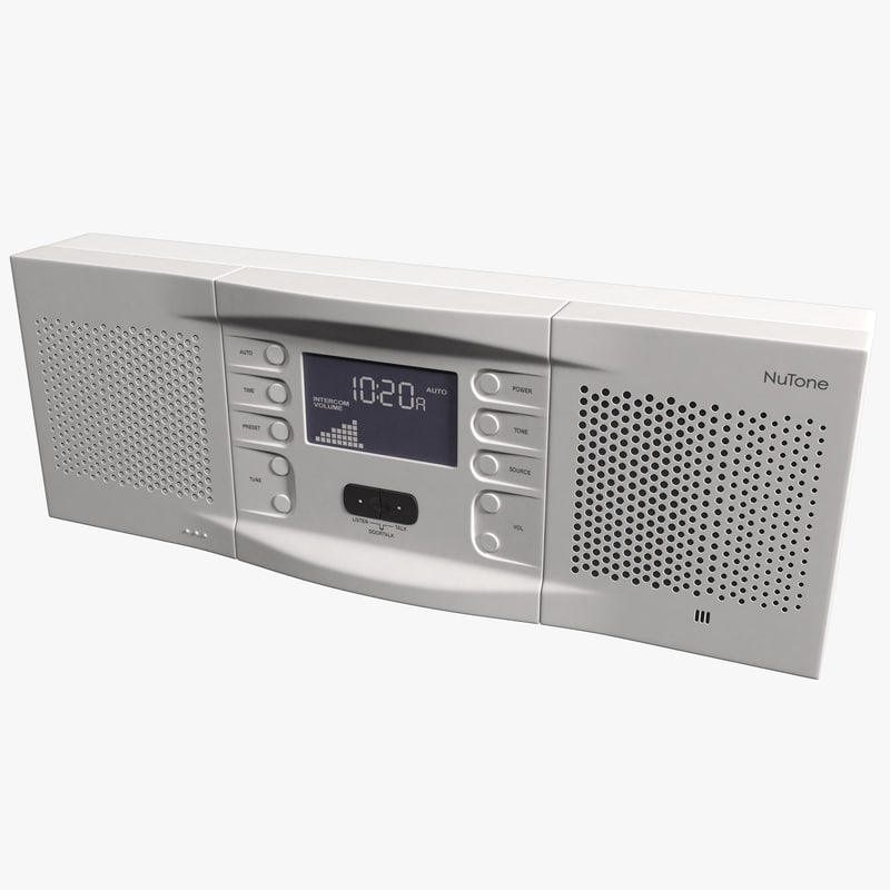 amfm intercom nutone nm200wh 3d 3ds