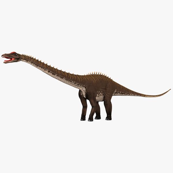 3d model diplodocus prehistoric