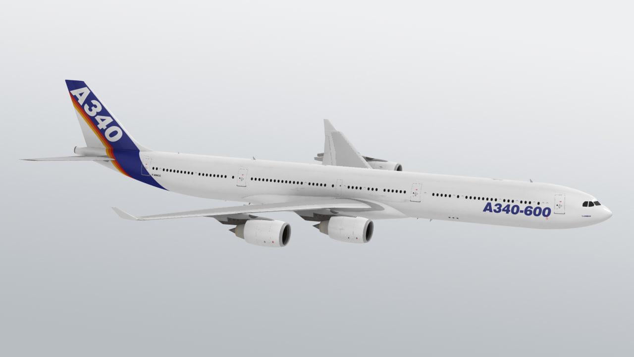 airbus a340 a340-600 3d max