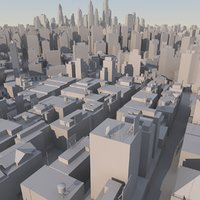 3d organically city mass modeled