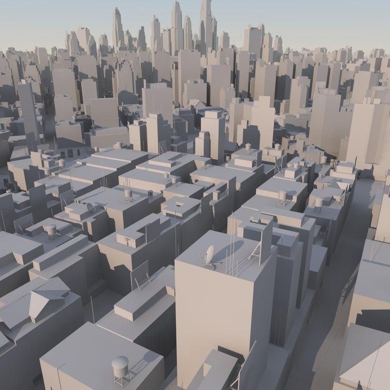 3d organically city mass modeled