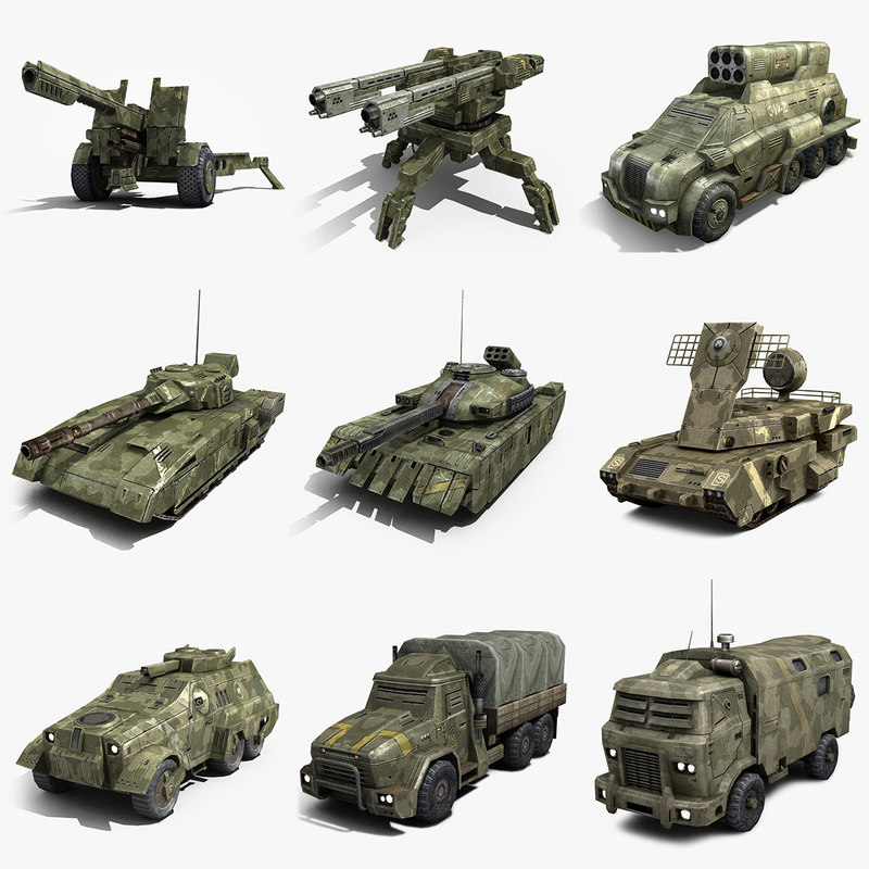 max sci-fi military vehicles