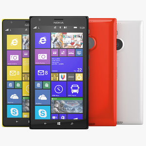 Nokia Lumia 1520 Phablet Smartphone Black, White, Red and Yellow