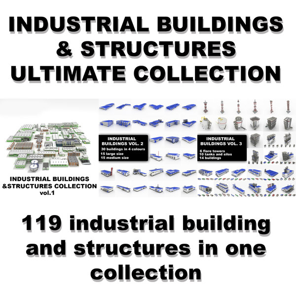 3d model industrial buildings ultimate