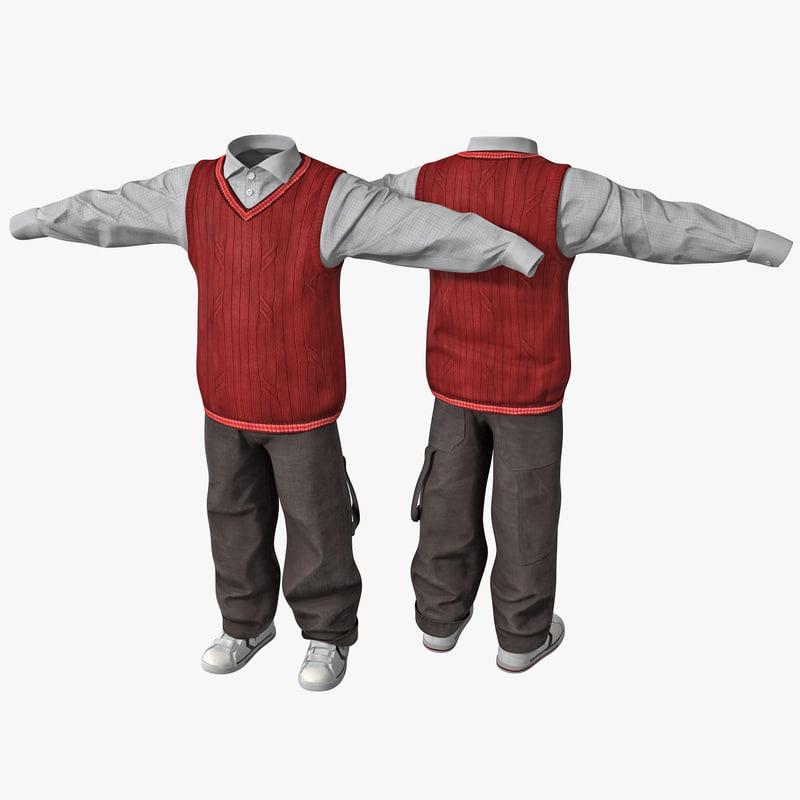 3d boy clothes