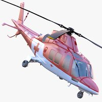 agustawestland aw109 grand helicopter 3d 3ds