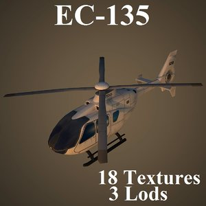 3d eurocopter air low-poly model