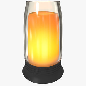 glass flameless candle c4d
