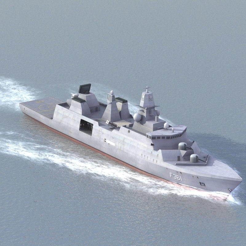 3d model lod iver huitfeldt frigate