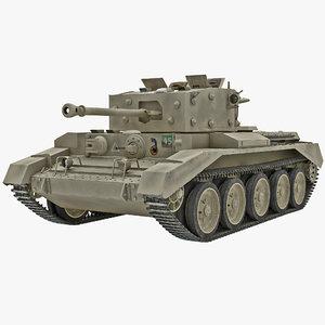 3ds max britain cruiser wwii tank