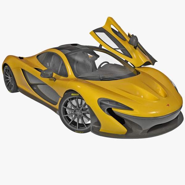 3d mclaren p1 rigged car