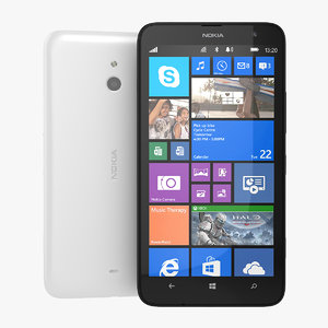 nokia lumia 1320 phablet 3d 3ds