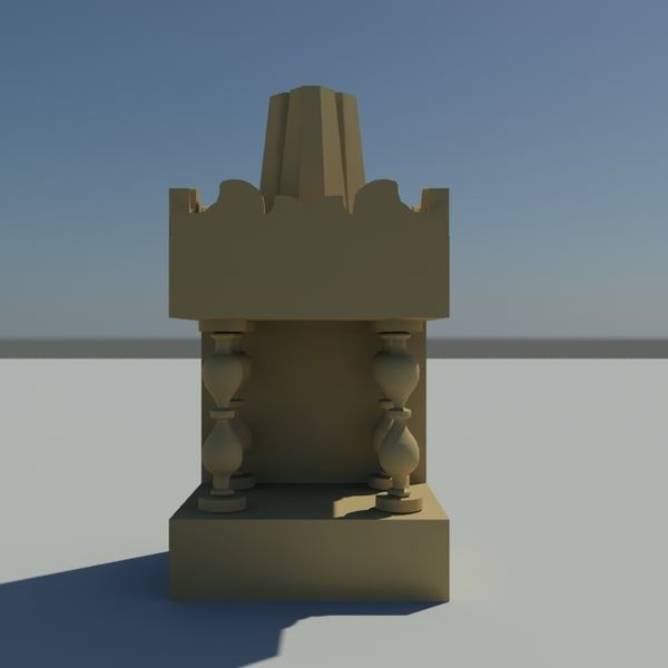 god temple house 3d model
