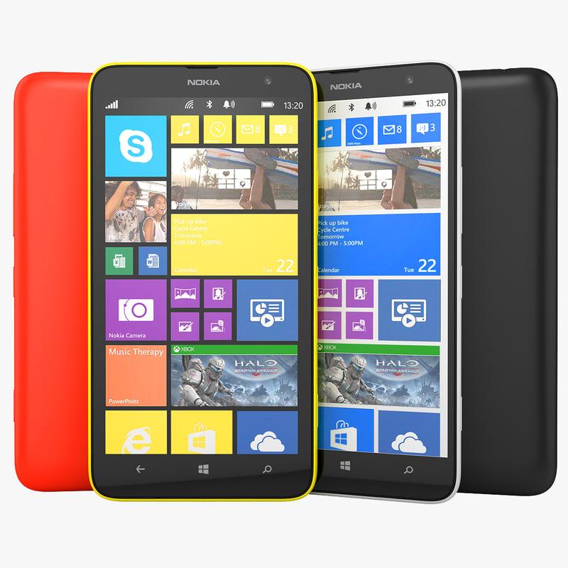 nokia lumia 1320 phablet 3d max