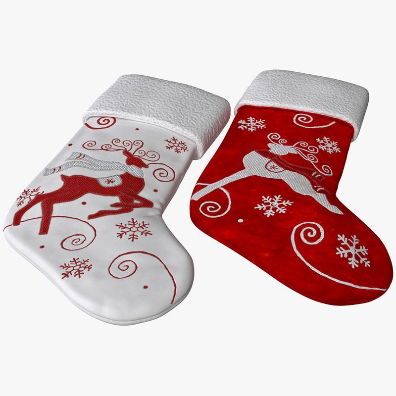 3dsmax christmas stocking set