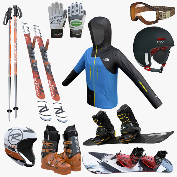 3d ski snowboard equipment