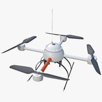 3d model quadcopter mini drone 2
