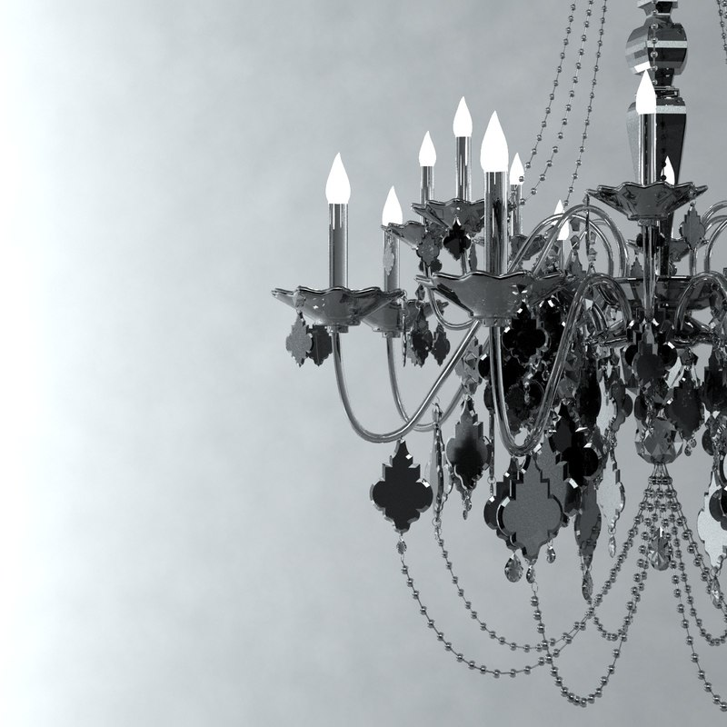 chandelier crystal black 3d model