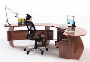 Office Desk with Chair & Props 4