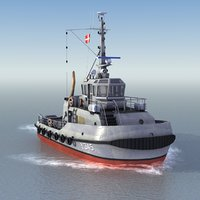 harbor tugboat 3d model