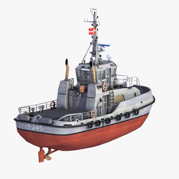 3ds max alsin y345 tug ships