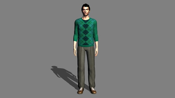 3D Male Character Rigged