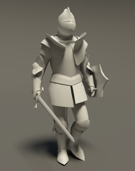 Medieval knight (Rigged_CAT)