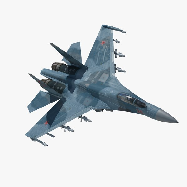 3ds max sukhoi flanker fighter aircraft