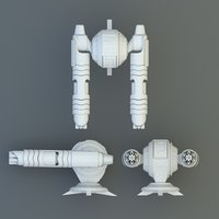 3d model gun pulse