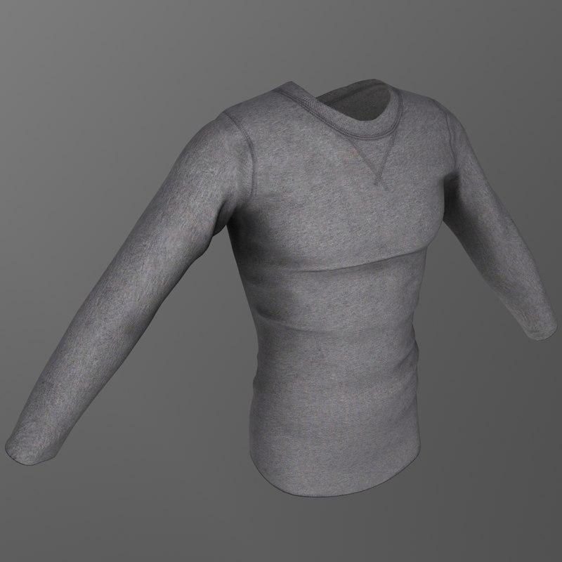 3d long sleeved shirt
