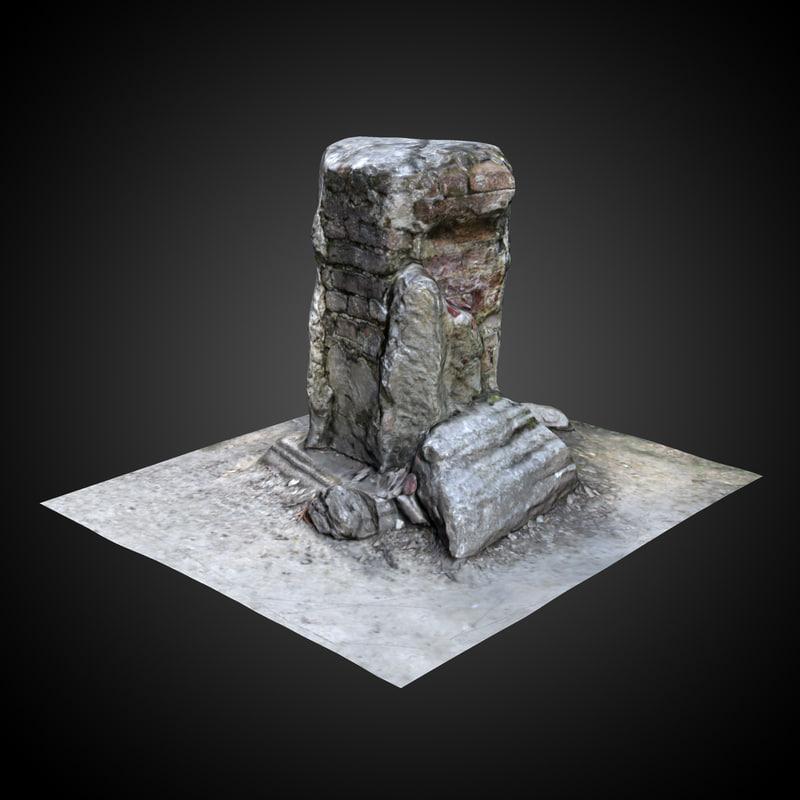 3d model roman ruin