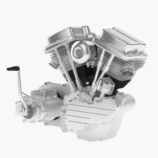 v2 twin engine 3d model