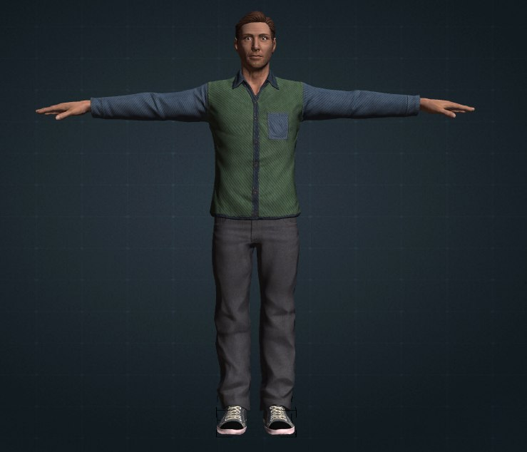 hd clothed 3d model