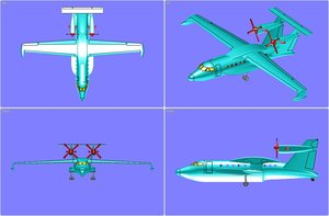 3d beriev aircraft solid assembly