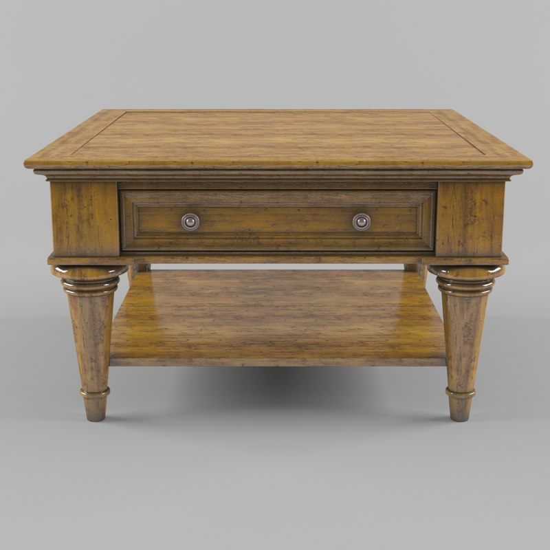 classical style square table 3d max