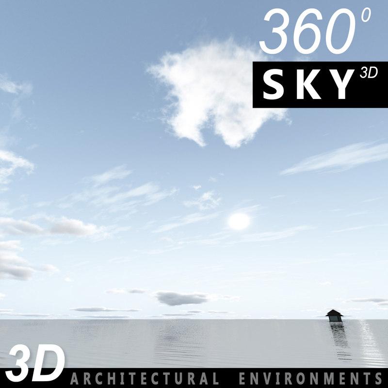 sky clouds 3d 3ds