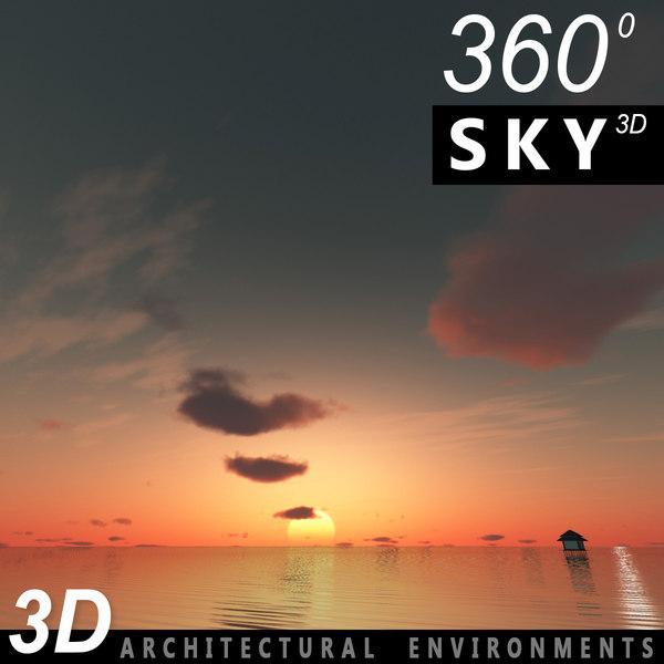Sky 3D Sunset 045