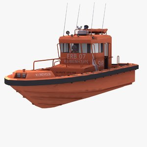 fast rescue boat 3d max