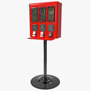 3d model triple vend machine