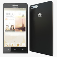 3d realistic huawei ascend p7 model