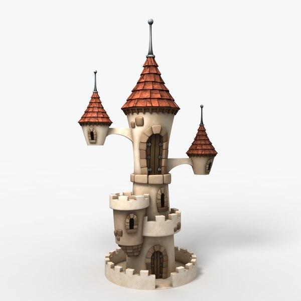 cartoon castle 3d model