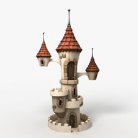 cartoon castle 3d model