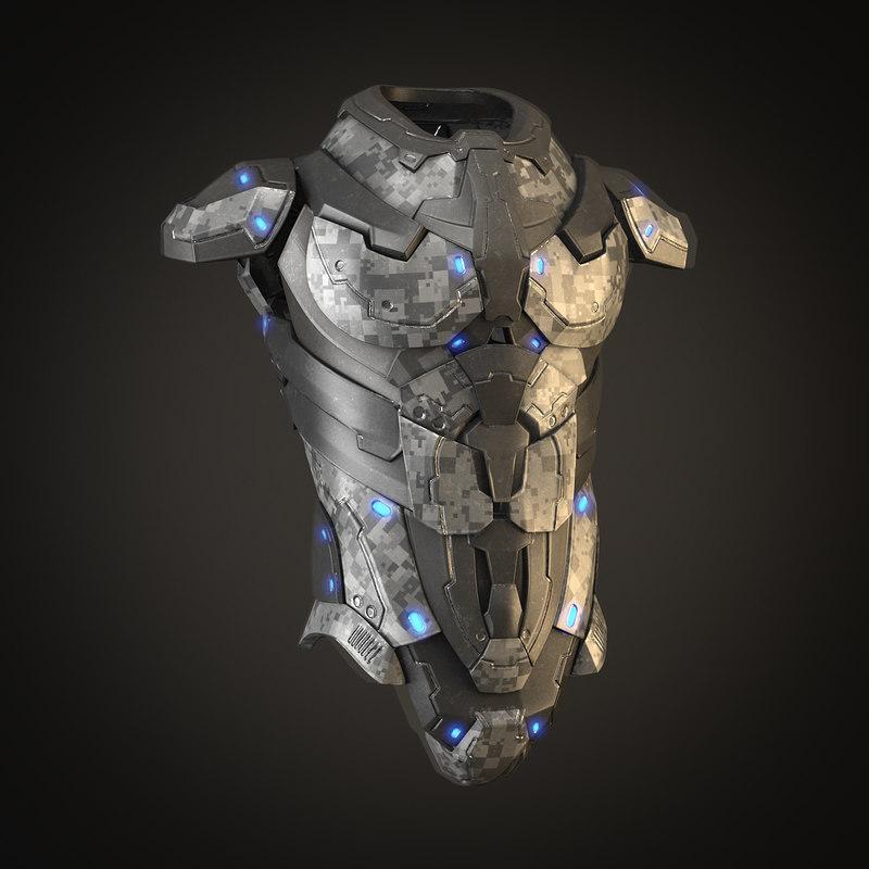 nano armor 3d model
