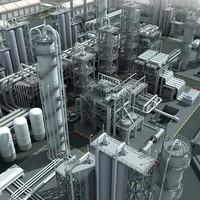 3d mega refinery industrial