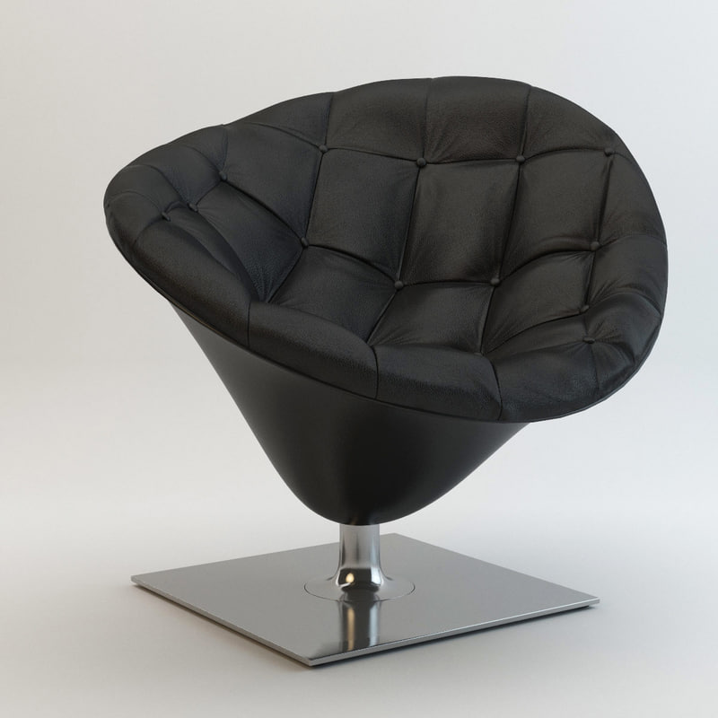 3ds max - driade moore armchair