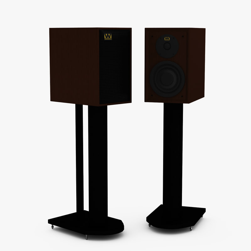 speaker warfedale denton 80th 3d model