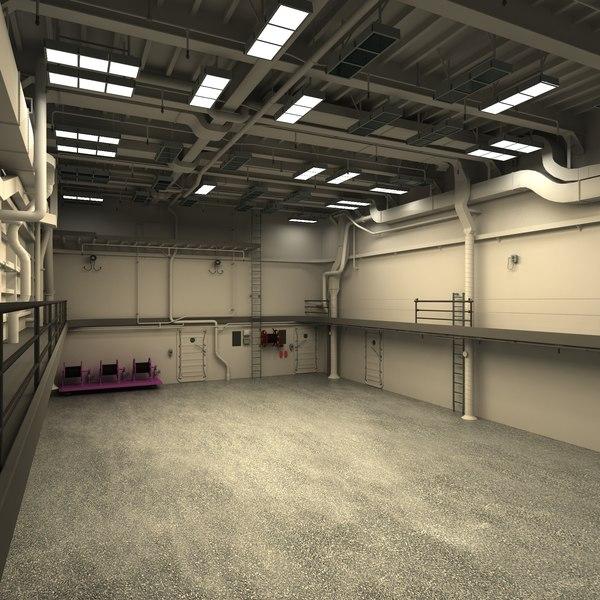 3d model industrial interior