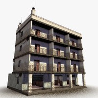 accessible urban building 3d obj