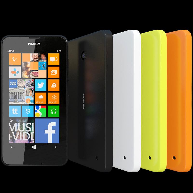 3d model realistic nokia lumia 630